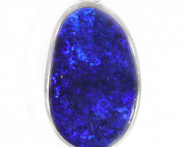 925 ST/ SILVER RHODIUM PLATED OPAL DOUBLET PENDANT [TP32 ]