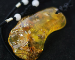 71 Cts Natural  Baltic Amber Necklace NA34