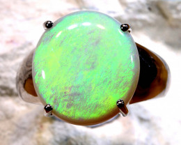 Natural Australian Solid Opal Ring Laz-M974