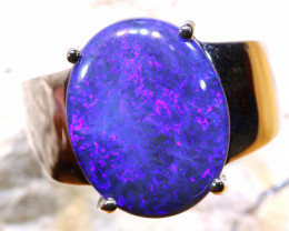 Natural Australian Solid Opal Ring Laz-M985