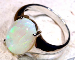 Natural Australian Solid Opal Ring Laz-M808