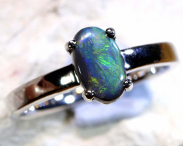 Natural Australian Solid Opal Ring Laz-Z470