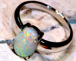 Natural Australian Solid Opal Ring Laz-Z483