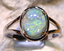 Natural Australian Solid Opal Ring Laz-N490