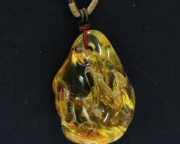 219 Cts Natural  Baltic Amber Necklace NA63