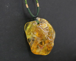 244 Cts Natural  Baltic Amber Necklace NA67
