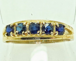Aussie sapphires  set in a 9CRT Gold Ring