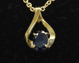 1.500 ct Aussie Sapphire set in 9 Ct Gold Pendant