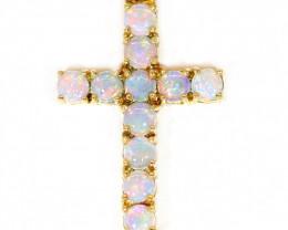 18K Gold COOBER PEDY  Opal Pendant [TP46]