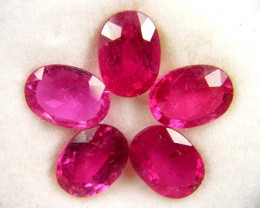 7X5MM MM PARCEL AFRICAN RUBY 5.15 CARATS TW 1072
