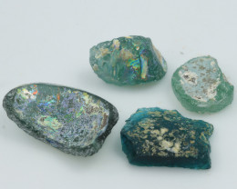 80Cts x4 ANCIENT ROMAN GLASS   NA143