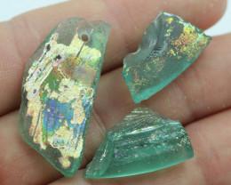 24Cts 3x ANCIENT ROMAN GLASS     NA148