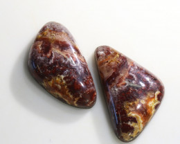 19.8 Cts 2x Utah USA Bacon Opal  NA167
