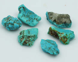91 Cts 6x Parcel Turquoise  Specimens from King Man  NA181