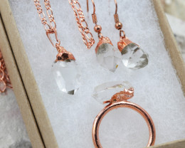 4 Piece Crystal Jewelry set $99 for $19.00 - Ring Size N -