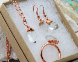 4 Piece Crystal Jewelry set $99 for $19.00 - Ring Size Q -