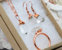 4 Piece Crystal Jewelry set $99 for $19.00 - Ring Size R -