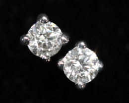 18 K White Gold Diamond earrings  - H2 - E10626 -2