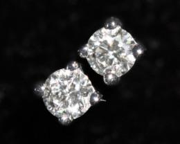 18 K White Gold Diamond earrings  - H3 - E10626 -3