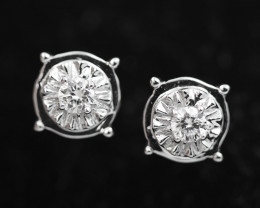 18 K White Gold Diamond earrings - H4 - E11352