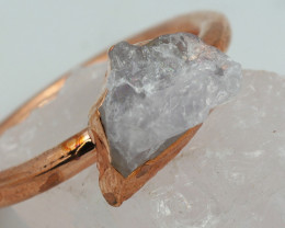 Raw natural Crystal Ring Size 9 with Cleansing stone NA195