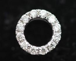 18 K White Gold Diamond Pendant  - H15 - P11175 -3