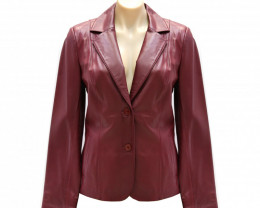 Lambskin Leather Jacket #red02