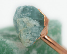 Raw natural Aventurine  Ring Size K  with Cleansing stone NA197