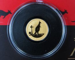 Perth Mint 0.5 Grams  2012 Kangaroo 0.016 Ounce Gold Coin