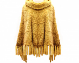 LADIES MINK PONCHO #CHEST
