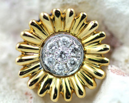 18 K Yellow Gold Diamond Pendant - H27 - P11586 -2