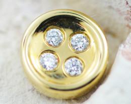 18 K Yellow Gold Diamond Pendant - H35 - P11597 -2