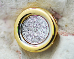 18 K Yellow Gold Diamond Pendant - H41 - P11582 -2