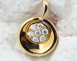 18 K Rose Gold Diamond Pendant - H43 - P11679