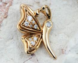 18 K Rose Gold Diamond Pendant - H45 - P11678 -1