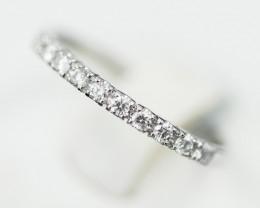 18 K White Gold Engagement Diamond Ring Size L - H50 - R7498 -2