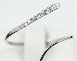 18 K White Gold Diamond Ring Size N - H52 - R11498 -2