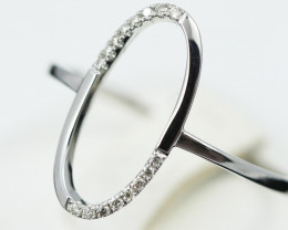 18 K White Gold Diamond Ring Size 7 - H58 - R11550 -2