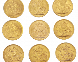 Collectors King George  Gold coins 1903 to 1910