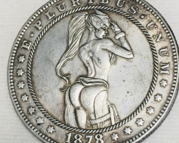 Hobo Coin Lady Art Form Design   CP 424