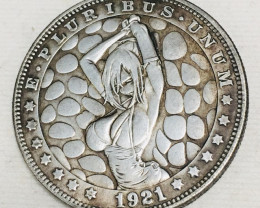 Hobo Coin Lady Art Form Design   CP 428