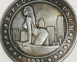 Hobo Coin Lady Art Form Design   CP 432