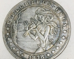 Hobo Coin Lady Art Form Design   CP 433