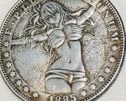 Hobo Coin Lady Art Form Design   CP 436
