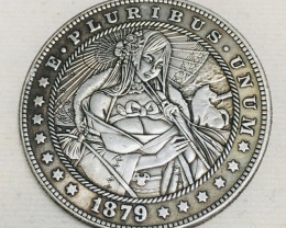 Hobo Coin Lady Art Form Design   CP 441