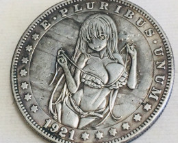 Hobo Coin Lady Art Form Design   CP 455