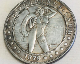 Hobo Coin Lady Art Form Design   CP 458