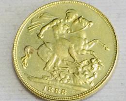 Collectible 1888 UK Gold Coin replica CP 474