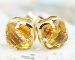14 KW Gold Citrine Earrings - E3991 - G16