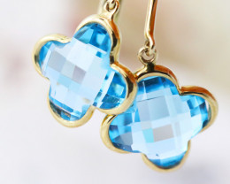 14k Gold Natural Topaz Earrings - E9372 - G21